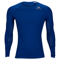 adidas ALPHASKIN L/S Compression T-Shirt - Men's - Blue / Blue