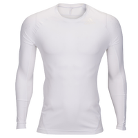 adidas ALPHASKIN L/S Compression T-Shirt - Men's - All White / White