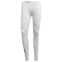 adidas ALPHASKIN Compression Tights - Men's - All White / White