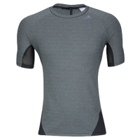 adidas ALPHASKIN S/S Compression T-Shirt - Men's - Grey / Black