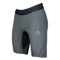 "adidas ALPHASKIN 9"" Compression Shorts - Men's - Black / Grey"