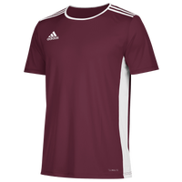 adidas Team Entrada 18 S/S Jersey - Men's - Maroon / White