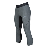 adidas ALPHASKIN 3/4 Compression Tights - Men's - Grey / Black
