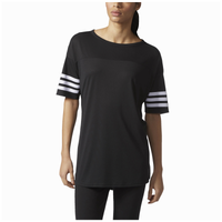 adidas Athletics 3-Stripes Short Sleeve Top - Women's - Black / White