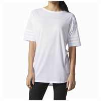adidas Athletics 3-Stripes Short Sleeve Top - Women's - All White / White