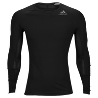 adidas ALPHASKIN L/S Compression T-Shirt - Men's - Black / Black