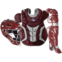 All Star System 7 Catcher's Kit - Adult - Maroon / White
