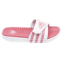 adidas Adissage - Girls' Grade School - White / Pink