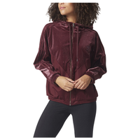 adidas Originals Velvet Vibes Oversized Hooded T-Shirt - Women's - Maroon / Maroon