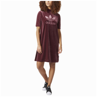 adidas Originals Velvet Vibes Short Dress - Women's - Maroon / Maroon