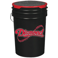 Diamond Bucket with 30 DOL-DBA Baseballs - Black / Red