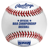 Rawlings Official NAIA Flat Seam Baseball - Men's - White / Blue