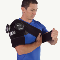 Ice20 Double Shoulder Ice Compression Wrap - Black / Black