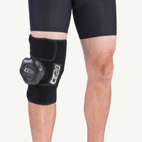 Ice20 Single Knee Ice Compression Wrap - Black / Black