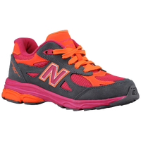 New Balance 990 - Girls' Grade School - Grey / Pink