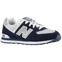 New Balance 574 Suede - Boys' Grade School - Navy / Grey