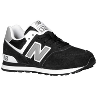 New Balance 574 Suede - Boys' Preschool - Black / White