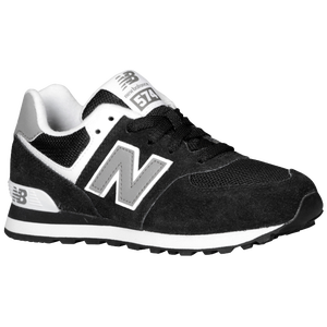 New Balance 574 - Boys' Preschool - Black/White