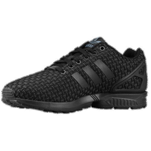 Pin adidas originals zx flux men s running shoes black black solar on