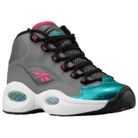 Reebok Question Mid - Boys' Grade School - Grey / Aqua