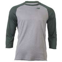 New Balance 3/4 Raglan Shirt - Men's - Grey / Dark Green