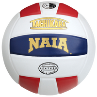 Tachikara NAIA Premium Leather Volleyball - White / Red