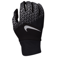 Nike Dri-FIT Printed Tempo 360 Run Gloves - Men's - Black / Silver