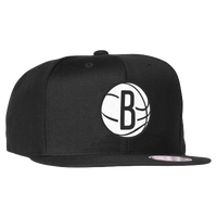 Mitchell & Ness NBA Wool Solid 2 Snapback - Men's - Brooklyn Nets - Black / White