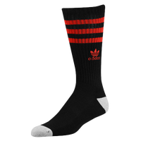 adidas Originals Roller Crew Socks - Men's - Black / Red