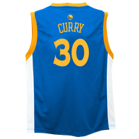 adidas NBA Replica Jersey - Boys' Grade School - Golden State Warriors - Blue / Gold