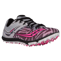 Saucony Havok XC Spike - Women's - Silver / Pink