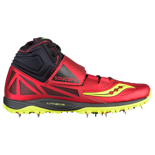 Saucony Lanzar Jav 2 - Men's - Track & Field - Shoes - Red/Citron