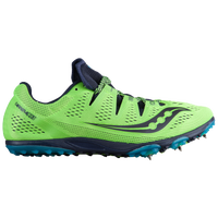 Saucony Carrera XC3 Spike - Men's - Light Green / Navy