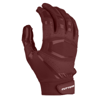 Cutters Rev Pro 3.0 Solid Receiver Gloves - Men's - Maroon / Maroon