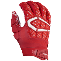 Cutters Gamer 3.0 Padded Football Gloves - Men's - Red / White