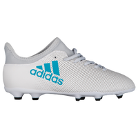 adidas X 17.3 FG - Boys' Grade School - White / Grey