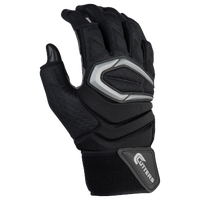 Cutters Force 2.0 Half-Finger Lineman Gloves - Men's - Black / Grey