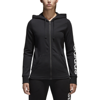 adidas Athletics Linear Full Zip Hoodie - Women's - Black / White