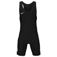 Nike Nike Grappler Elite Wrestling Singlet - Men's - Black / White
