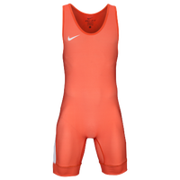Nike Nike Grappler Elite Wrestling Singlet - Men's - Orange / White