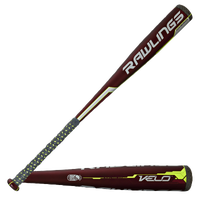 Rawlings Velo Baseball Bat -10 - Youth - Red / Black
