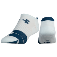 Under Armour Run Cushion No Show Single Tab Socks - Women's - White / Navy