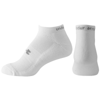 Under Armour HeatGear No Show Cushion 3 Pack Socks - Women's - White / Grey