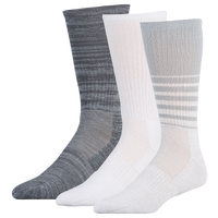 Under Armour Phenom 2.0 3 Pack Crew Socks - Men's - White / Grey