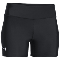 "Under Armour Team on the Court Short 4"" - Women's - All Black / Black"