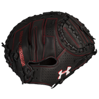 Under Armour Deception Catcher's Mitt - Youth - Black / Red