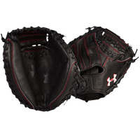Under Armour Pro Series Catcher's Mitt - Adult - Black / Red