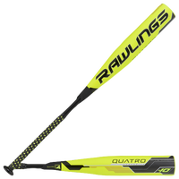 Rawlings Quatro Baseball Bat - Youth - Yellow / Black