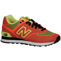 New Balance 574 - Women's - Orange / Light Green