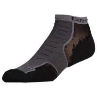 Thorlo Cushioned Heel Micro Mini Running Socks - Grey / Black